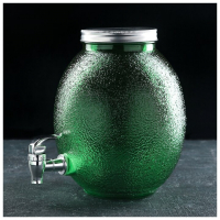 """Кувшин с краником """"Фреш"""" 4 л, 21х16х24 см, цвет зеленый 4438510"""