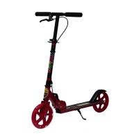 Самокат MONARCH + REPLICA  (ручной тормоз) Платформа 50см, колеса 200 мм, светящееся переднее колесо