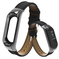 Сменный браслет Xiaomi Mi Band 4/3 кожаный