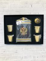 Подарочный Набор 2: Фляжка +4 рюмочки+воронка